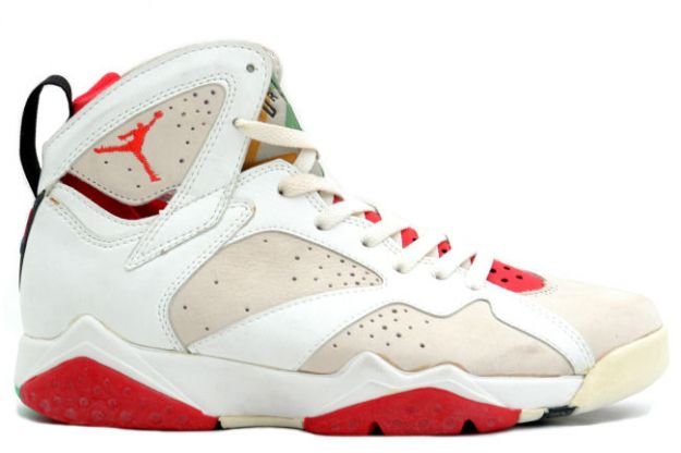 Air Jordan 7 Hare White Light Silver True Red Shoes