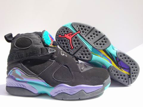Jordan 8 Retro black green shoes