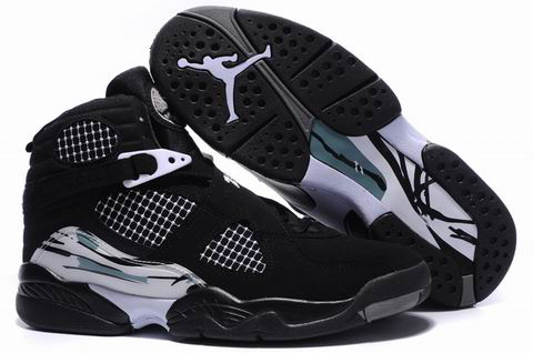 Jordan 8 Retro black grey shoes