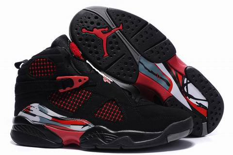 Jordan 8 Retro black true red shoes