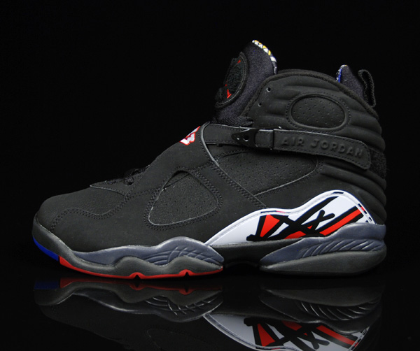 Jordan 8 Retro playoffs black varsity red white shoes