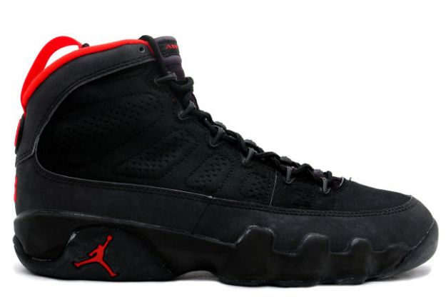 air jordan 9 black dark charcoal true red shoes
