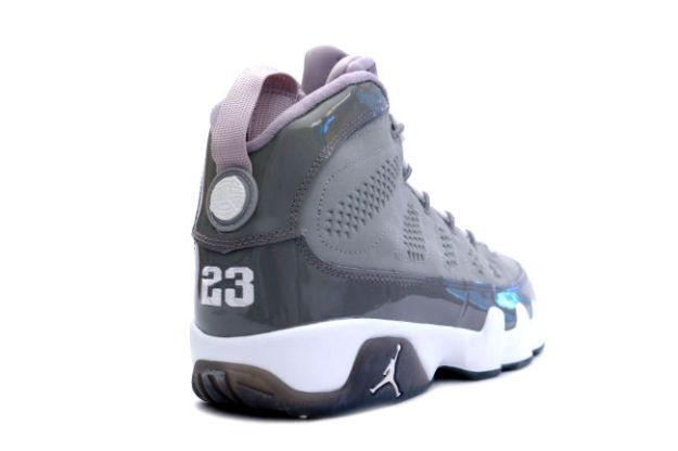new style 050e0 22553 Jordan 9 Retro medium grey white cool grey shoes