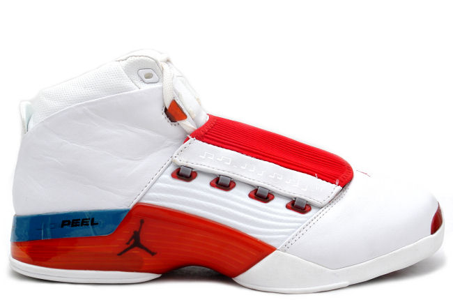 jordan 17 original og white varsity red charcoal shoes